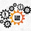 Vector de stock : Team work