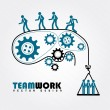 Stock Vector: Team work