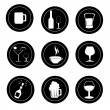 Stock Vector: Drinks icons