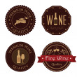 Stock Vector: Wine seals