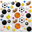 Sports balls background — Stock Vector