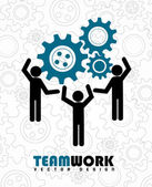 Team work — Vettoriale Stock