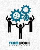 Travail d'équipe — Vecteur