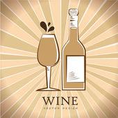Vin design — Stockvektor