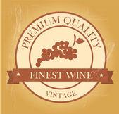 Finest wine seal — Stock Vector