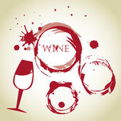 Wine bubbles — ストックベクタ