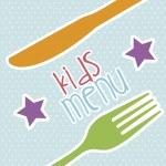 Kids menu — Stock Vector