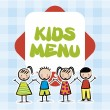 Kids menu — Vettoriali Stock