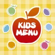 Stock Vector: Kids menu