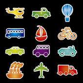 Transports icons — Stock Vector