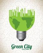 绿色城市 — 图库矢量图片