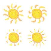 Sun icons — Stock Vector