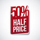 Fifty percent — Stock Vector