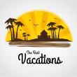 The best vacations — Stock Vector