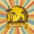 Summer time — Vector de stock #27721235