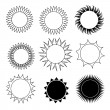 Phases of the sun — Imagen vectorial