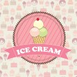 Ice cream — Stock Vector