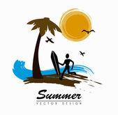 夏天设计 — 图库矢量图片