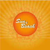 Sun and beach — Stock Vector