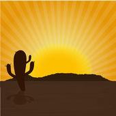 Desert — Vettoriale Stock
