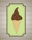 Crème glacée — Vecteur