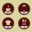 Stock Vector: Restaurant seals