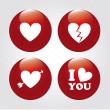 Hearts icons — Stock Vector