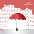 Hearts rain — Stock Vector