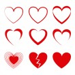 Hearts icons — Stock Vector #27855581