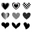 Hearts icons — Stock Vector #27855613