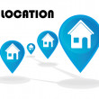 Location — Stockvectorbeeld