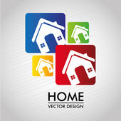 Home labels — Stock Vector