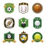 Etiquetas de deportes — Vector de stock  #27964895