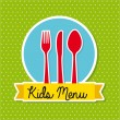 Kids menu — Stock Vector #27965117