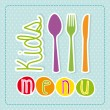 Kids menu — Stock Vector #27965401