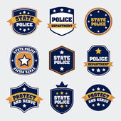 Police seals — Stock Vector