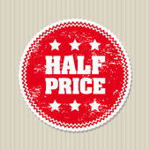 Half price — Stock Vector