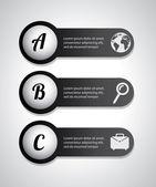 Infografiki litery — Wektor stockowy