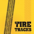 Tire tracks — Stockvektor