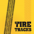 Tire tracks — Grafika wektorowa