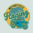 Motorcycle label — Stock Vector