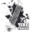 Tire tracks — Stok Vektör #28250703