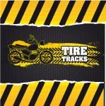 Постер, плакат: Tire tracks