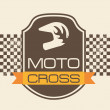 Moto cross — Vettoriali Stock