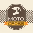Moto cross — Stockvektor