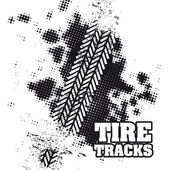 Tire tracks — Vettoriale Stock