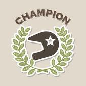 şampiyon tasarım — Stok Vektör