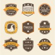 Motorcyclists seals — Stock Vector