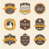Motorcyclists seals — Stock Vector
