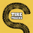 Stock Vector: Tire tracks